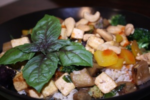 Eggplant and Tofu Stir Fry