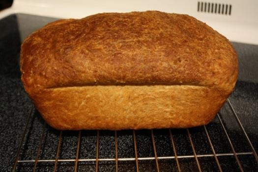 Side view of the 10 grain bread