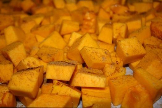Roasting Pumpkin Cubes