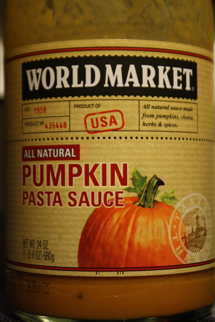 World Market Pumpkin Pasta Sauce