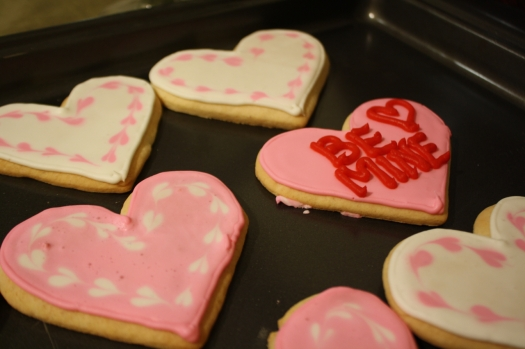 Marbled and Message Heart Cookies