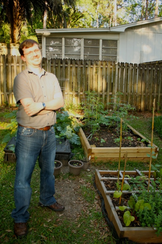 Artie and his garden