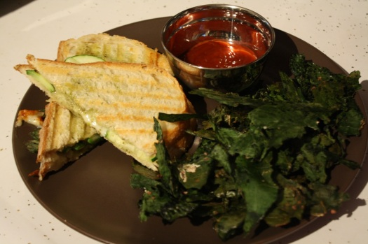 Panini with kale chips