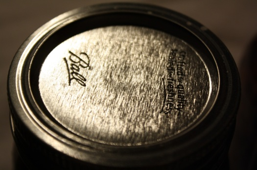 Lids sealed tightly to the jars