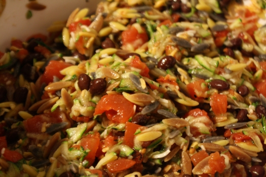 Vegetable - orzo mixture
