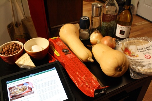 Ingredients for Savory Butternut Squash Pie