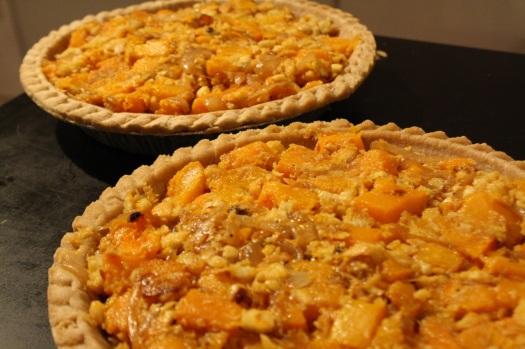 Assembled Savory Butternut Squash Pie