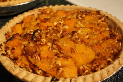 Cooked butternut squash pies