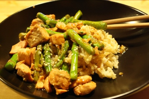 Men's Health Salmon Teriyaki with Asparagus