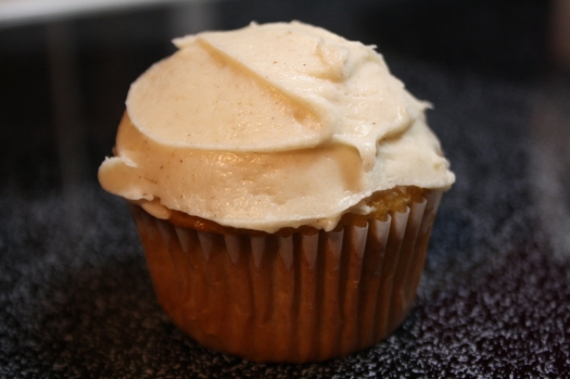 Pumpkin Ale Cupcake with Spiced Frosting