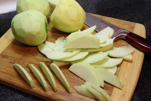 Peeled, Cored, and Sliced Apples