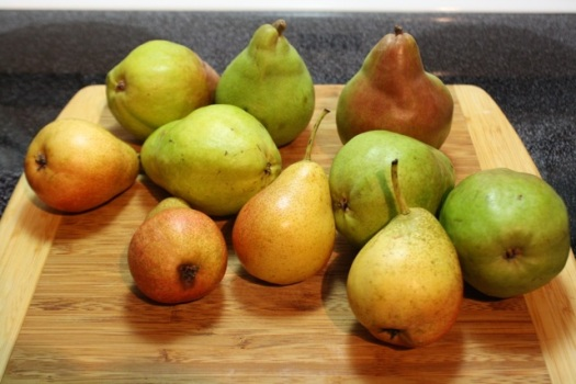 Forelle, Comine, and Bartlett Pears