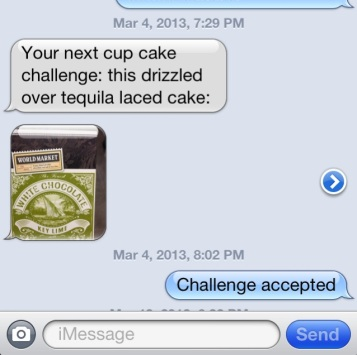 White Chocolate Margarita Cupcake Challenge