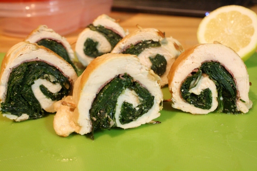 Rounds of Chicken Saltimboccollards