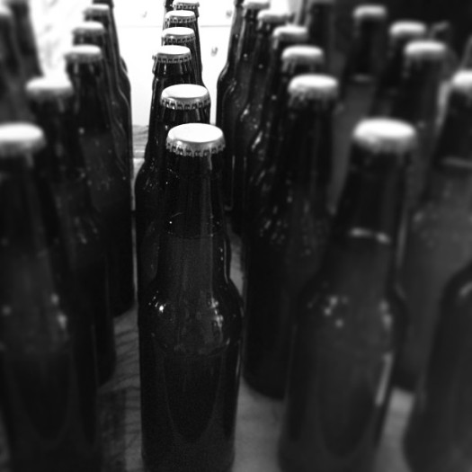 Bottles of Homebrewed Ale