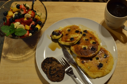 Blueberry Pancake Breakfast