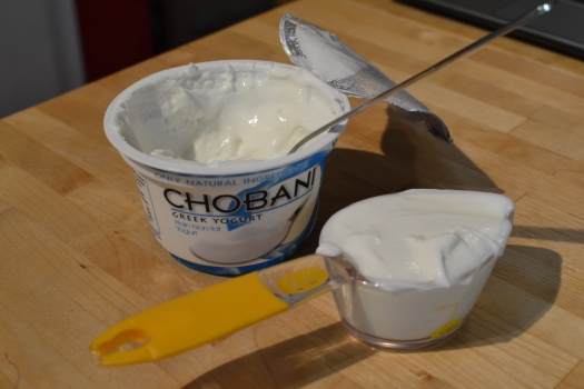Substitute the oil with plan Greek yogurt
