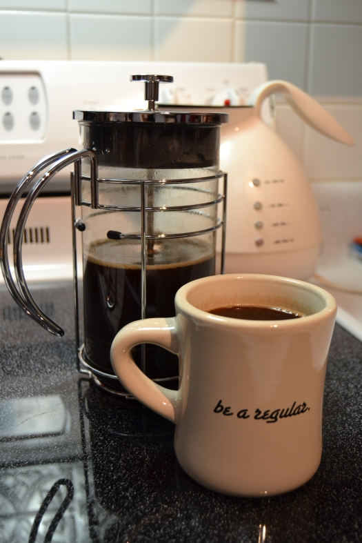 Carefully brewed cup of coffee