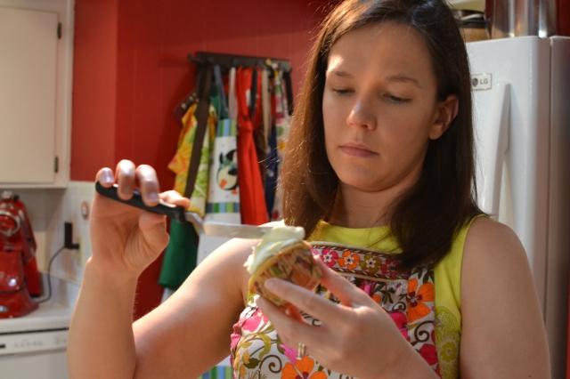 Jill frosting Orange Cardamom Cupcakes