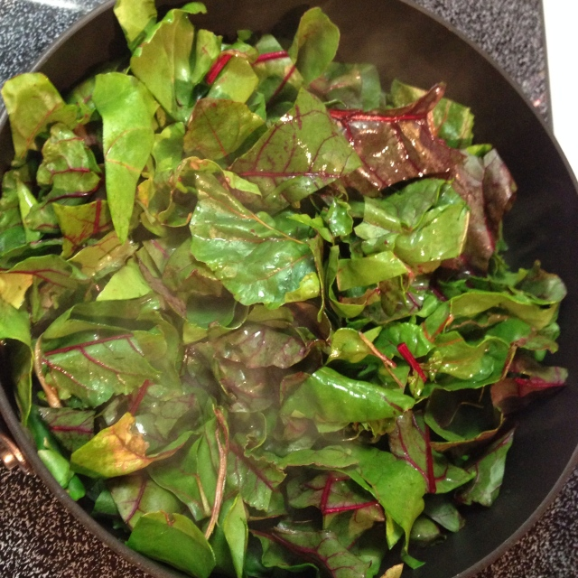 Wilted beet greens