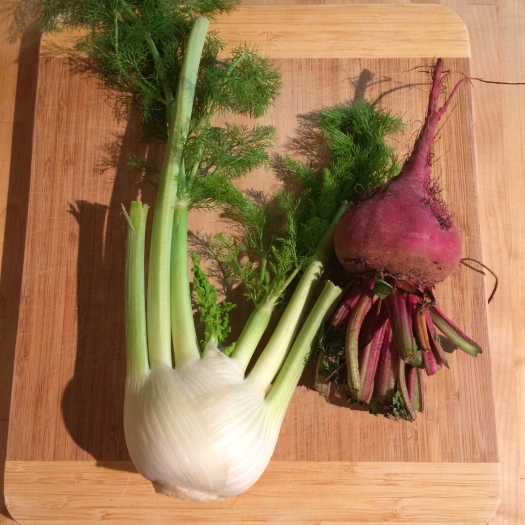 Fennel and a beet